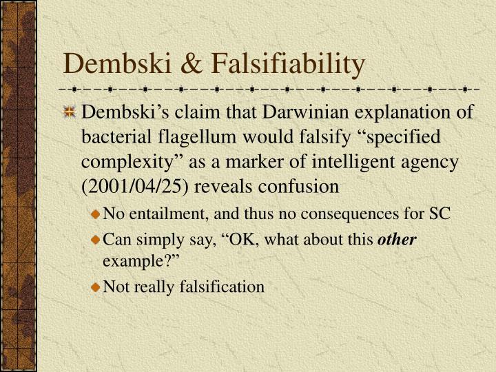 Dembski & Falsifiability