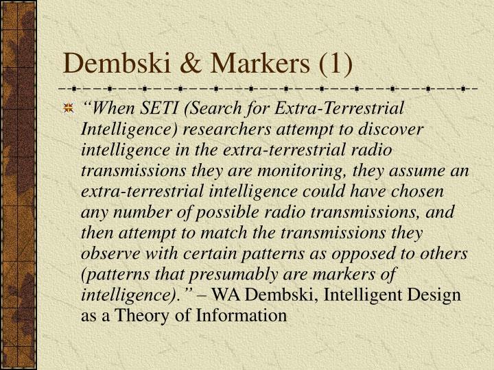 Dembski & Markers (1)