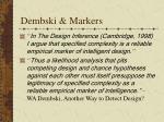 dembski markers