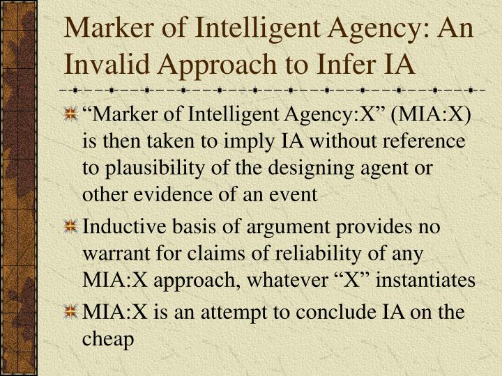 Marker of Intelligent Agency: An Invalid Approach to Infer IA