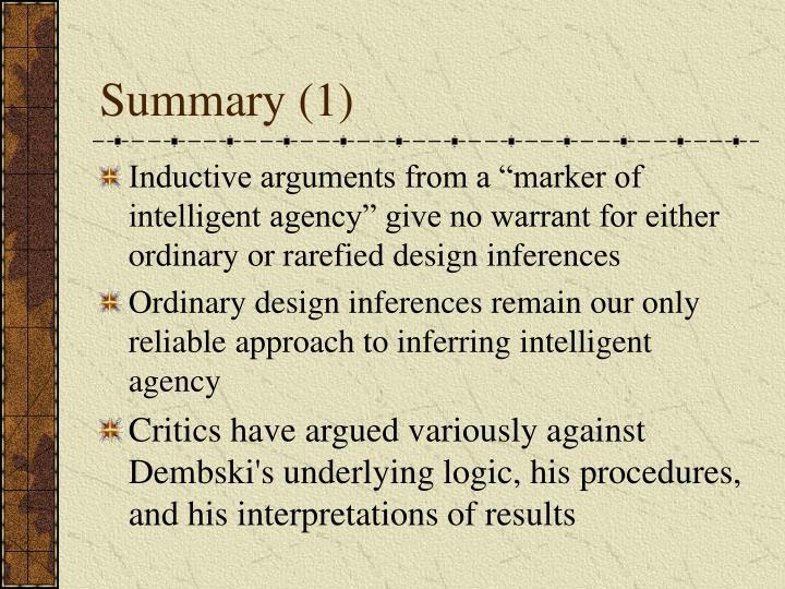 Summary (1)