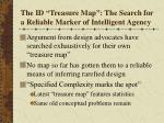 the id treasure map the search for a reliable marker of intelligent agency