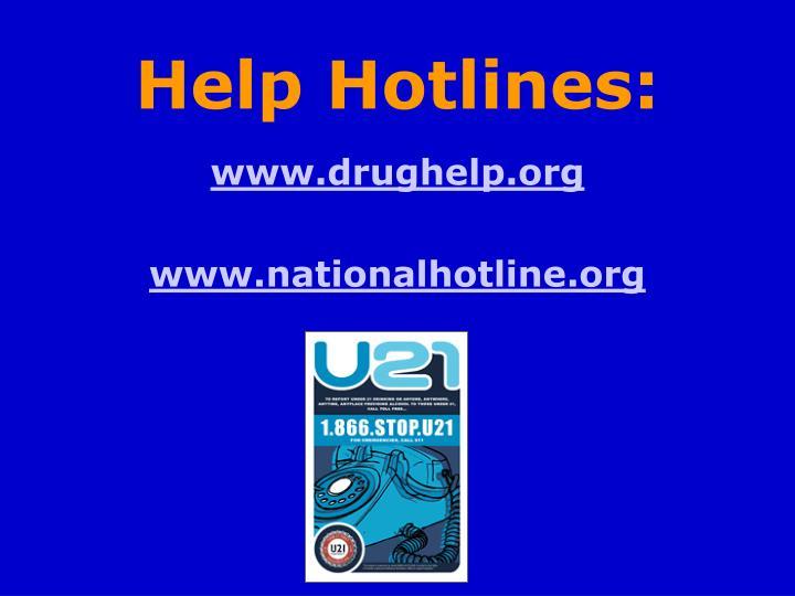 Help Hotlines: