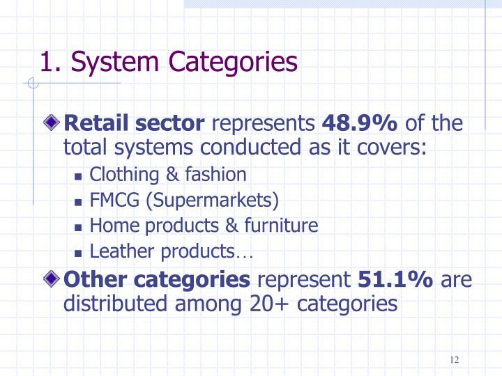 1. System Categories