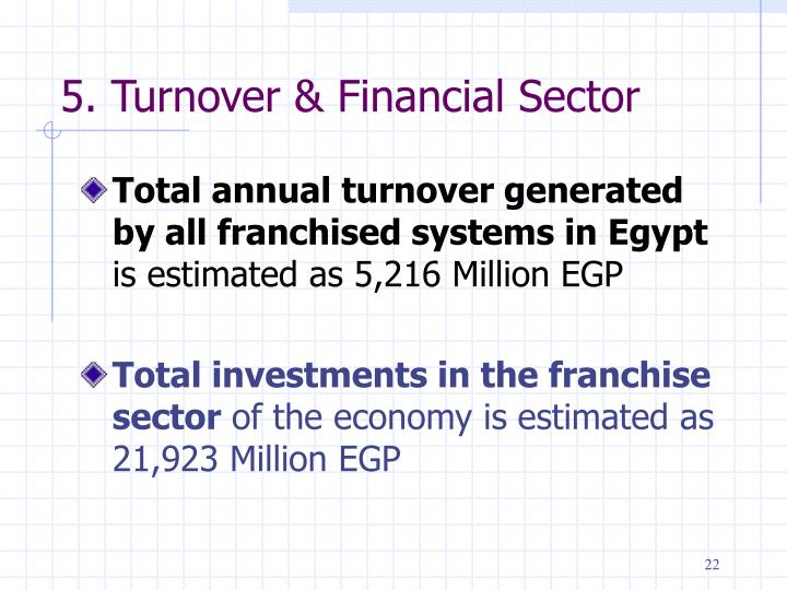 5. Turnover & Financial Sector