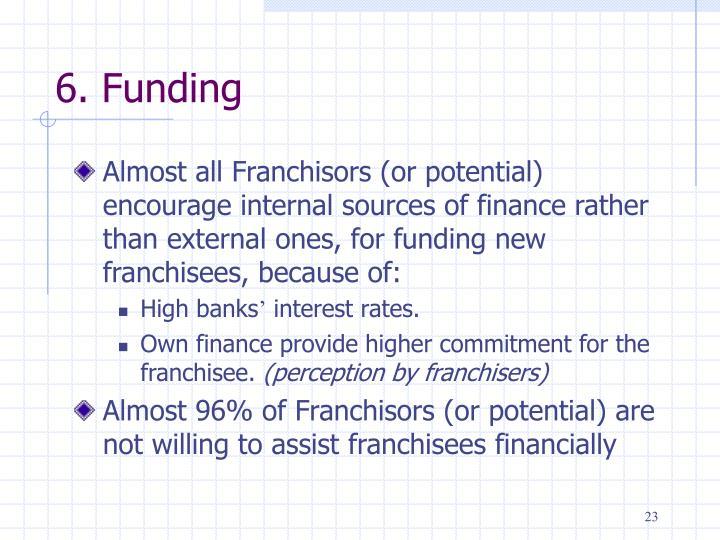 6. Funding