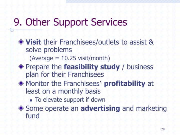 9. Other Support Services