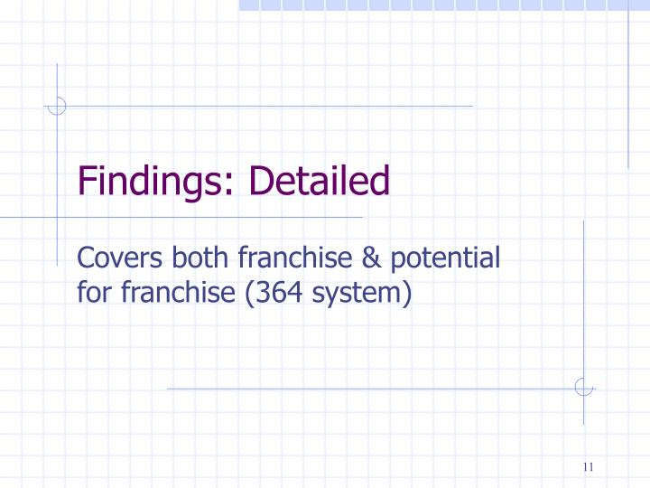 Findings: Detailed