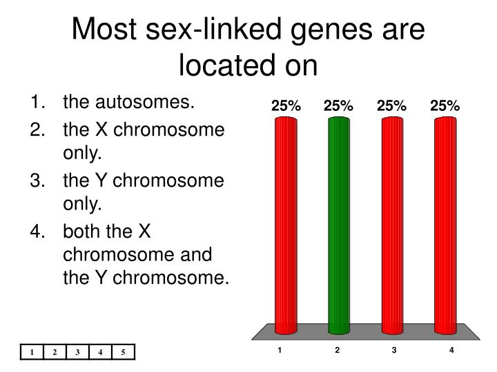 Most Sex Linked Genes Are Located On 10
