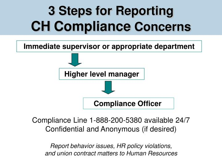 3 Steps for Reporting
