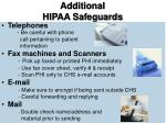 additional hipaa safeguards