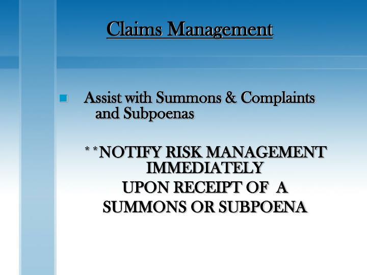Claims Management