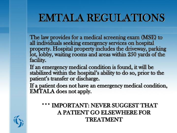 EMTALA REGULATIONS