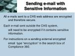 sending e mail with sensitive information