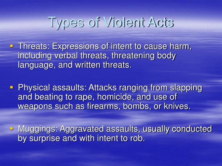 Types of Violent Acts