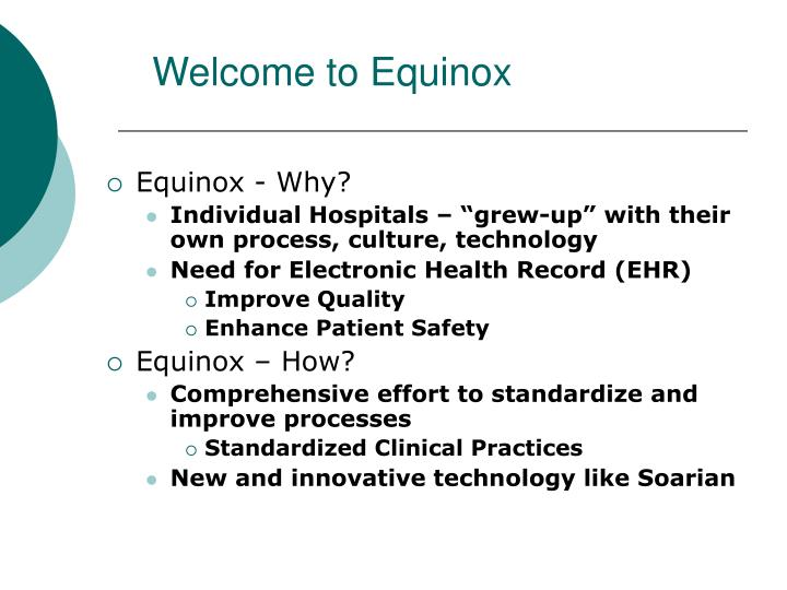 Welcome to Equinox