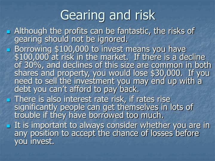 Gearing and risk