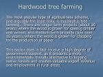 hardwood tree farming