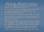 more tax efficient investing