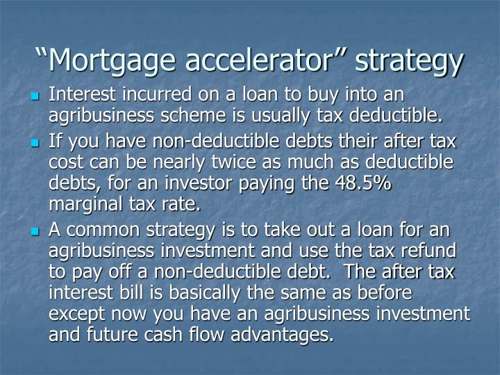 """""""Mortgage accelerator"""" strategy"""