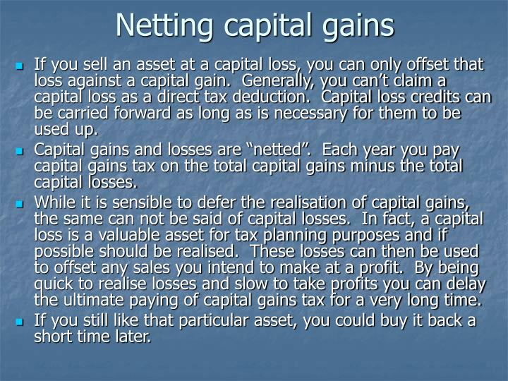 Netting capital gains