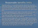 reasonable benefits limits