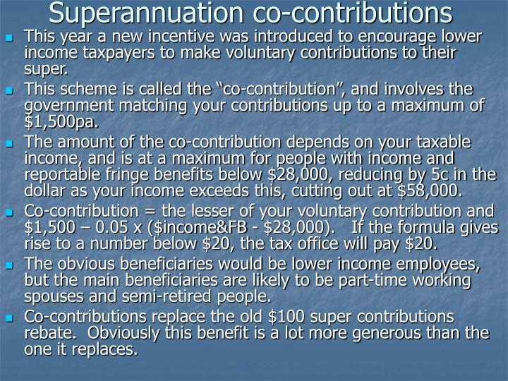 Superannuation co-contributions