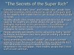 the secrets of the super rich