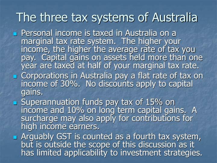 The three tax systems of Australia