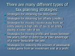 there are many different types of tax planning strategies