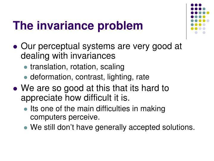 The invariance problem