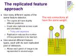 the replicated feature approach
