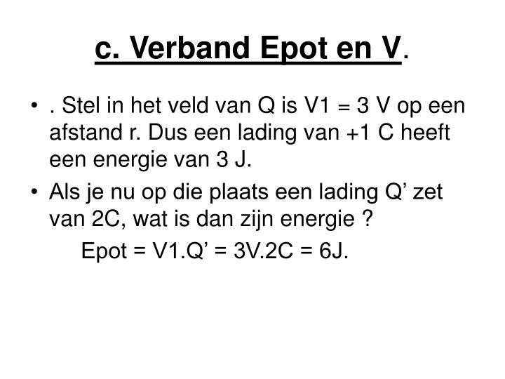 c. Verband Epot en V