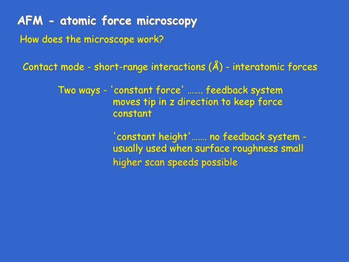 AFM - atomic force microscopy