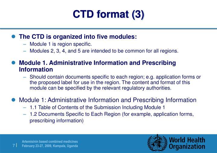 CTD format (3)