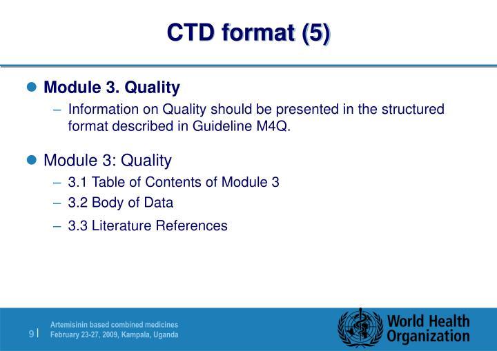 CTD format (5)
