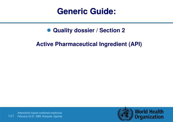 Generic Guide: