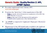 generic guide quality section 2 api apimf option