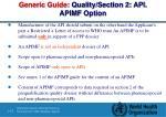 generic guide quality section 2 api apimf option1