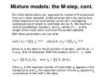 mixture models the m step cont