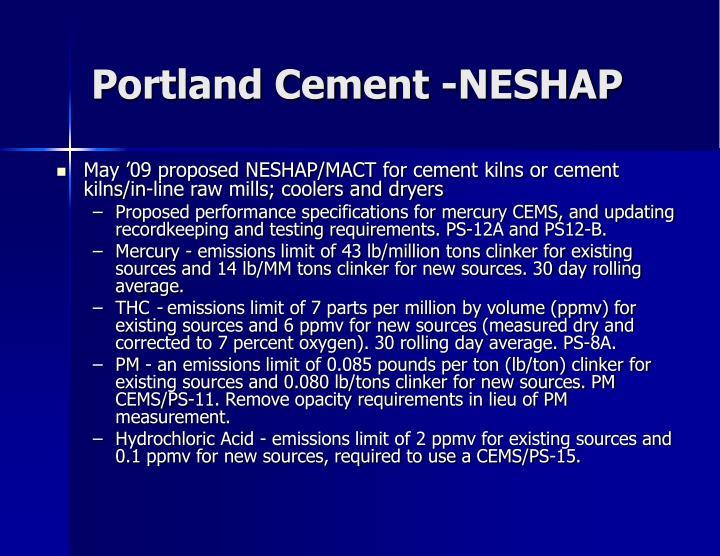 Portland Cement -NESHAP