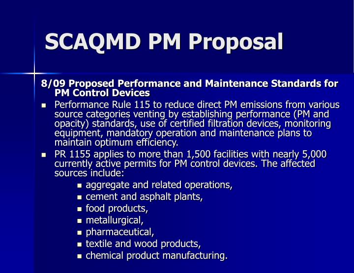 SCAQMD PM Proposal