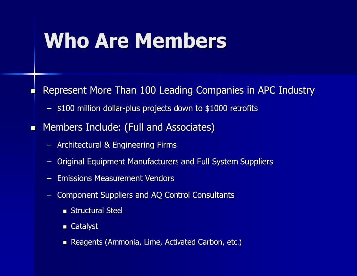 Who Are Members