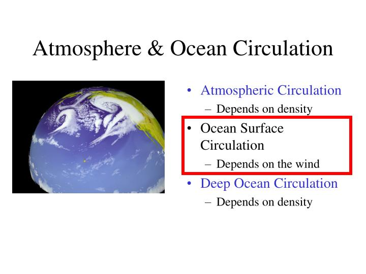 Atmosphere ocean circulation