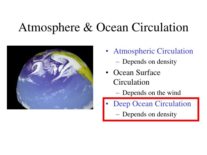 Atmosphere & Ocean Circulation