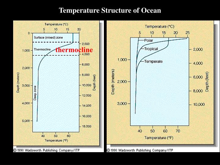 Temperature Structure of Ocean