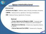 apoyo interinstitucional