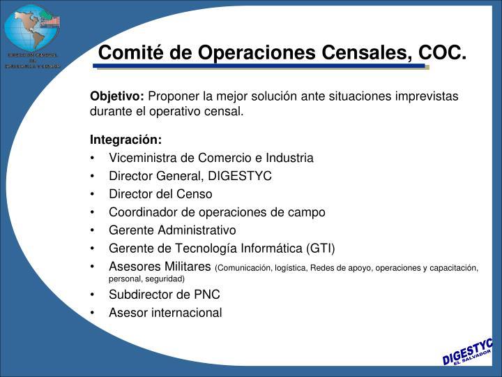 Comité de Operaciones Censales, COC.