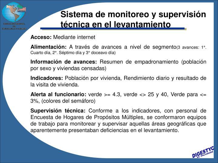 Sistema de monitoreo y supervisión técnica en el levantamiento