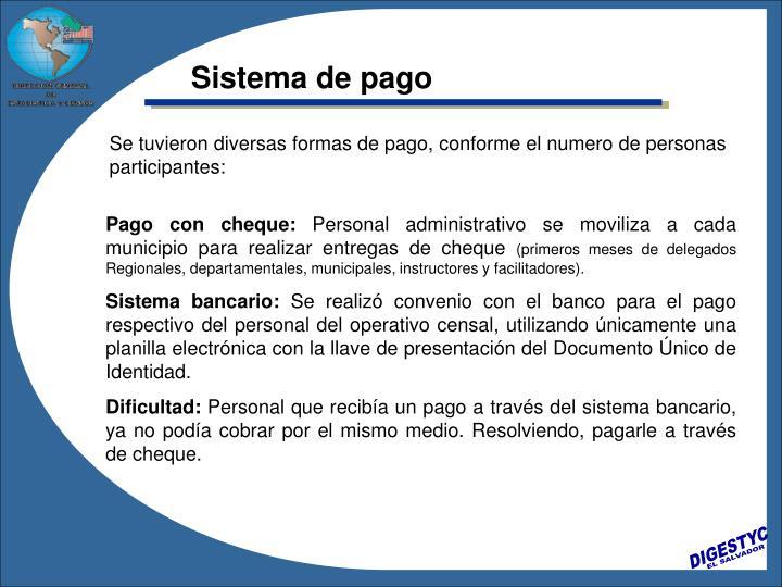 Sistema de pago